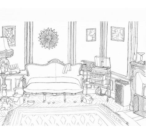 Le salon chez Mamé